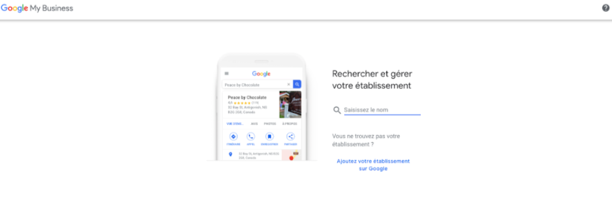 Google my business étape 1